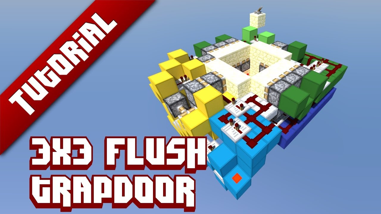 how to build a trapdoor in minecraft