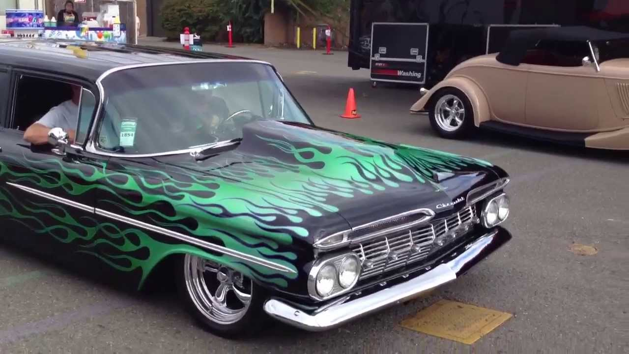 See flamed black 1959 chevrolet biscayne wagon pro touring youtube