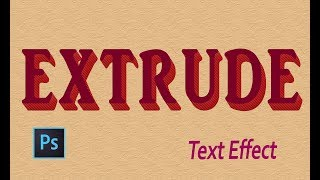 Photoshop Tutorial : Extruded Shadow Effect | Photoshop Text Effect | Graphic Design