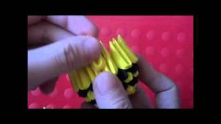 3d Origami Bee Kid Part 1