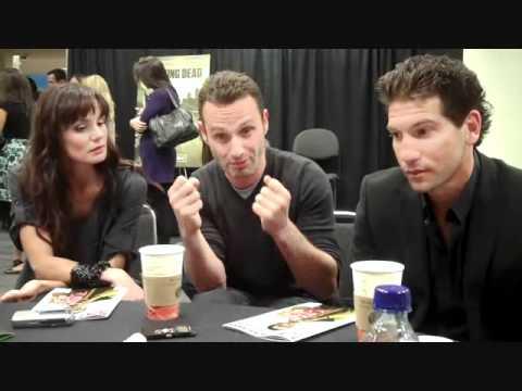 Sarah Wayne Callies And Jon Bernthal AMC's The Walking Dead...