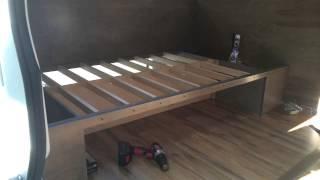 In Detail Van Build; The Bed!