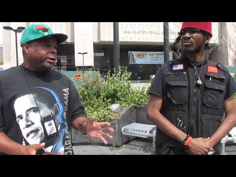 #AngelInTrainingTV Interview on the African-American Flag on 125th Street