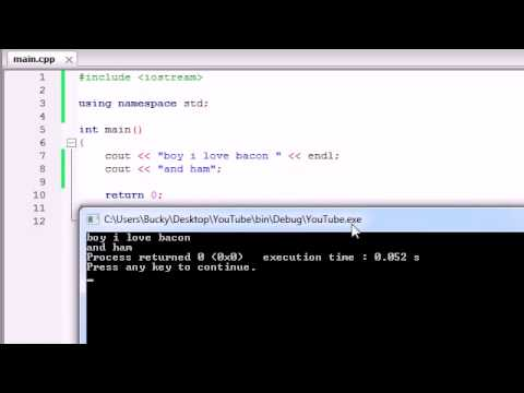 Buckys C++ Programming Tutorials   3   More on Printing Text