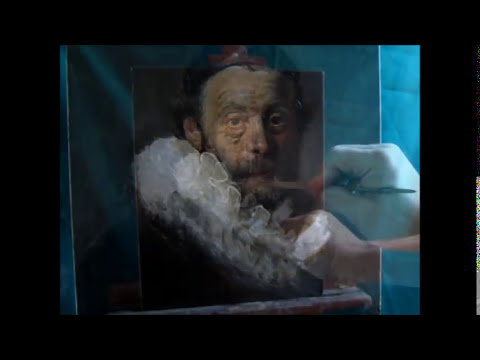 New! Art Lesson. Rembrandt Portrait Painting By Artist Sergey Gusev. English Subtitles.