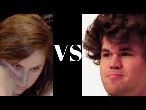 Judit Polgar vs Magnus Carlsen - Blindfold game - Mexico City 2012 - Pirc Defence (Chessworld.net)