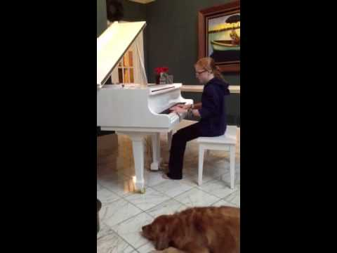 Harriet plays SkyFall by Adele