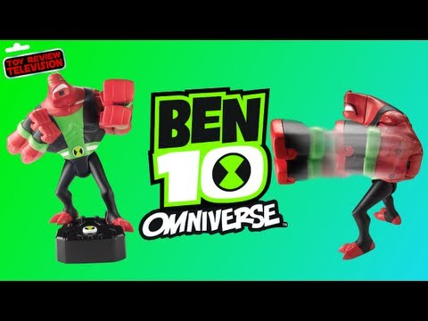 Ben 10 Omniverse Four Arms Sound Alien Action Figure From Bandai Toy Review Unboxing