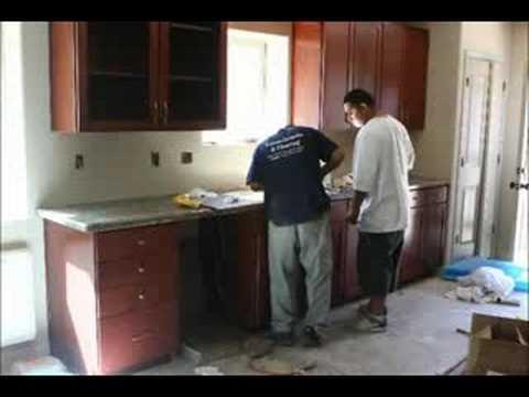 Granite Installation : Granite Installation by Bill Tintas, Luis, & Alex - YouTube