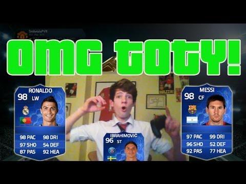 OMG TOTY 250K INSANE PACK OPENING! TOTY RONALDO, MESSI + IBRA! FIFA 14 PACK OPENING!!!