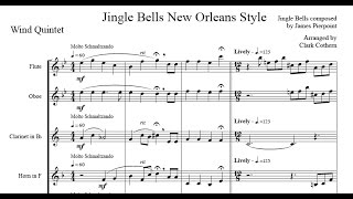 Jingle Bells New Orleans Style - for Wind Quintet - Arr. Clark Cothern (1957 -  ) [BMI]