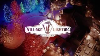 Village Lighting Company - Christmas Lights Arial View