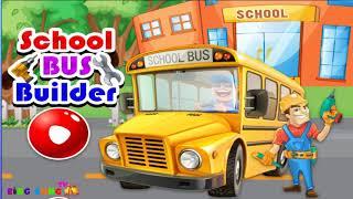 Ô tô hoạt hình hay cho trẻ em ❤ Bé xây dựng xe học sinh ❤ BingBong TV