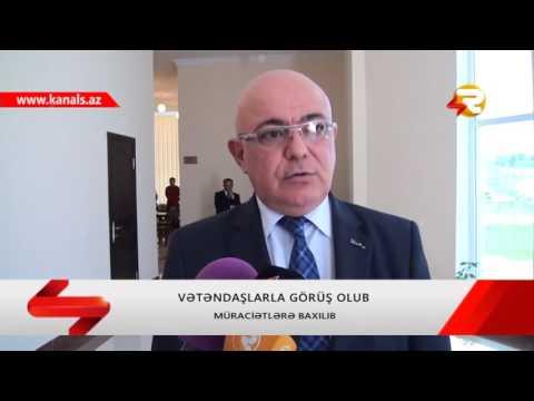 DOVLET GOMRUK KOMITESININ SEDRI AYDIN ELIYEV QOBUSTANDA VETENDASLARLA GORUSUB