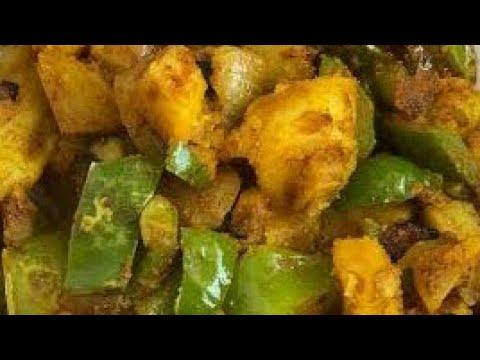 capsicum potato curry telugu   alu capsicum gravy curry   capsicum potato curry in telugu