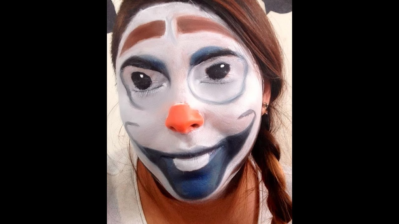Olaf Makeup Tutorial