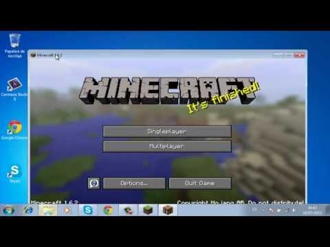 Launcher Minecraft actualizable 1.6.4 al 100% con instalacion optifine (Pirata)