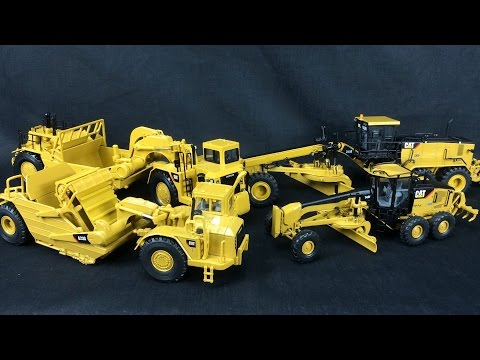1/50 Scale CAT Review - Part 3 - Scrapers & Graders