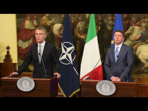 NATO Secretary General with Prime Minister of Italy, 24 MAY 2016