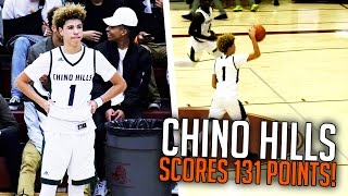 LaMelo Ball SHOOTS FROM HALFCOURT MID GAME + LiAngelo DROPS 65 POINTS! Chino Hills VS Foothill