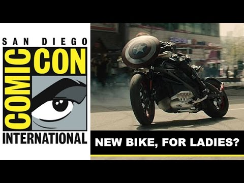 Comic Con 2014 - Black Widow's Electric Motorcycle in Avengers 2 Age of Ultron : Beyond The Trailer
