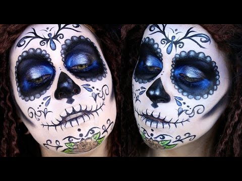 Mexican Sugar Skull Makeup; Día de los Muertos