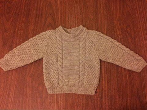 Связать свитер мальчику три года