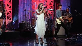 Lucy Hale Performs