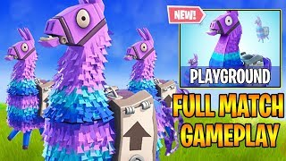 *NEW* PLAYGROUND GAMEPLAY - INFINITE RESPAWN, x1000 RESOURCES, & 1v1 MODE! (Fortnite Battle Royale)