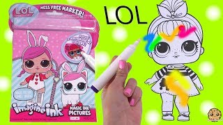 LOL Surprise Magic Imagine Ink Rainbow Color Pen Surprise Picture Coloring Video
