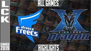 AF vs KZ Highlights ALL GAMES | LCK Summer 2019 Week 2 Day 4 | Afreeca Freecs vs King-Zone DragonX