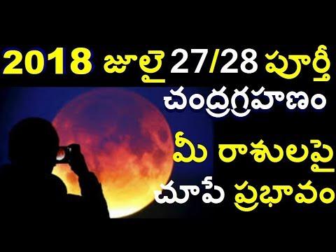 చంద్రగ్రహణం27July 2018 ఏ రాశులపై ఎలాంటి ప్రభావం ??Total Lunar Eclipse for INDIA/telugu info media