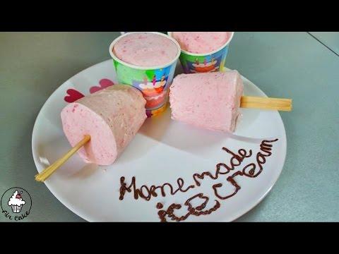 ¬идео как сделать домашнее мороженое