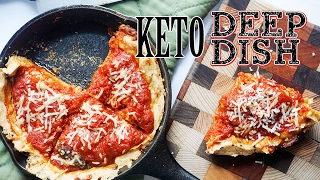 Low Carb Pizza!  Deep Dish | Classic Chicago Style Keto Pizza