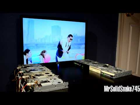 PSY - Gangnam Style on eight floppy drives