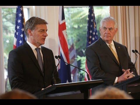 Bill English and Rex Tillerson