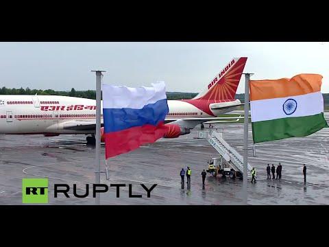 LIVE: Prime minister of India Narendra Modi arrives in Ufa