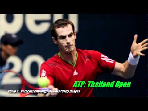 News Video: Murray And Young Reach Bangkok Semis, Djokovic Goes Back To School