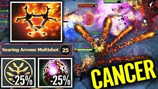 Most Annoying Hero! Octarine Clinkz -50% CD Bone Army 7.22 Dota 2 gameplay