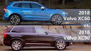 2018 Volvo XC60 vs 2018 Volvo XC90 (technical comparison)