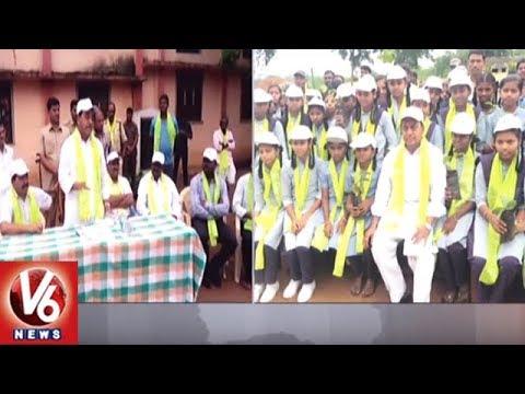 Minister Indrakaran Reddy Takes Jogu Ramanna's Green Challenge | Plants Saplings | V6 News
