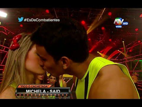 COMBATE: Michela Elías se molesta tras beso con Said Palao