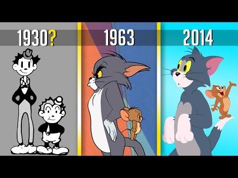 КАК МЕНЯЛИСЬ ТОМ И ДЖЕРРИ ЗА ГОДЫ???  Эволюция мультфильмов!