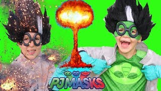 PJ MASKS GEKKO TRICKS ROMEO Episode Funny Superhero Catboy At Beach