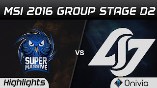 SUP vs CLG Highlights MSI 2016 D2 Supermassive vs Counter Logic Gaming