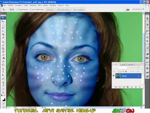 Tutorial Photoshop CS3 english - na'vi avatar makeover