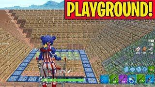 PLAYGROUND SNIPER SHOOTOUT!!! (Shopping Cart Sniper 1v1v1v1 in Fortnite Playground Mode)