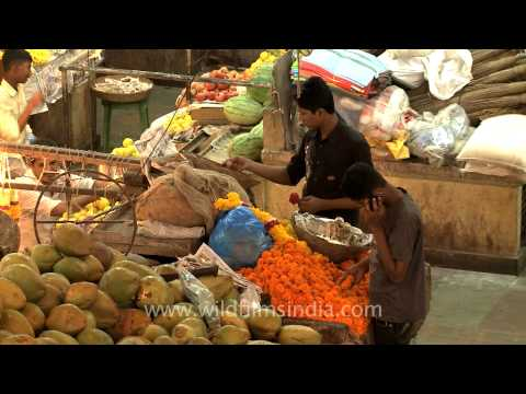 Fruit and vegetable market in Panaji, Goa