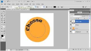 1.8 Combine Shapes and Text to Create a Design: Adobe Photoshop CS4 Video