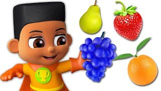 Learn Fruits For Kids (S1E7)| Educational Cartoons For Children | Super Geek Heroes
